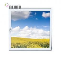 Окно ПВХ Rehau 600х600 мм одностворчатое О 1 стеклопакет