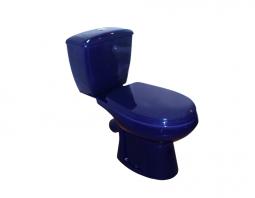 Унитаз-компакт Оскольская Керамика Элисса с нижней подводкой синий