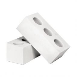 Кирпич лицевой силикатный Белый пустотелый одинарный