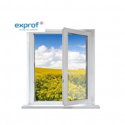 Окно ПВХ Exprof 600х600 мм одностворчатое ПО 1 стекло
