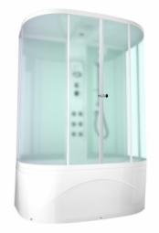 Душевая кабина Domani Spa Neat high 1500х810х2190 сатин матированное стекло, белая панель