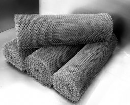 Сетка рабица d=1,2 мм, ячейка 25x25 мм, 1,5х10,0 м оцинкованная