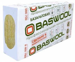 Минераловатный утеплитель Baswool Руф Н 100 1200х600х50 мм / 4 пл.