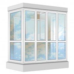 Остекление балкона ПВХ Veka в пол с отделкой вагонкой с утеплением 2.4 м П-образное