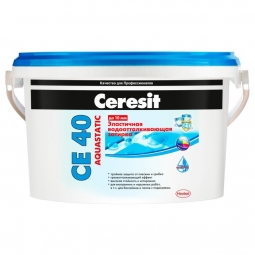 Затирка Ceresit СЕ 40 Aquastatic для швов до 10 мм эластичная водоотталкивающая противогрибковая латте (2кг)