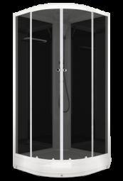 Душевая кабина Domani Spa Delight 99 900х900х2180 тонированное стекло, черная панель, Б/Э