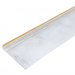 Профиль примыкающий оконный 6х2400 ПВХ с армирующей сеткой