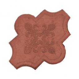 Плитка тротуарная Клевер узорный Вибролитая 267х218х55 Красная