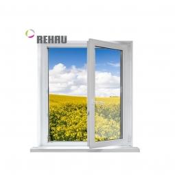 Окно ПВХ Rehau 600х600 мм одностворчатое П 1 стеклопакет